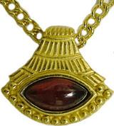 Egyptian Lotus pendant, Garnet - Museum Shop Collection - Museum Company Photo