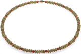 Egyptian necklace with corrogated roundels & Carnelian beads - Museum Shop Collection - Museum Company Photo