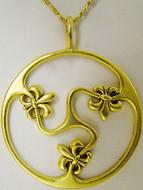 """Fleur-de-Lys pendant on 16"""" chain - Museum Shop Collection - Museum Company Photo"""