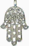 "Judaic symbol ""Hamsa"" pendant on 16"" chain - Museum Shop Collection - Museum Company Photo"