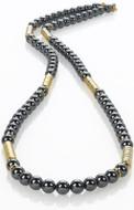 Hametite & golden bead necklace - Museum Shop Collection - Museum Company Photo