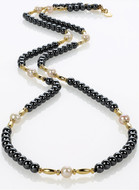Hametite & Pearl accents necklace - Museum Shop Collection - Museum Company Photo