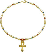Egyptian necklace Ankh center - Museum Shop Collection - Museum Company Photo