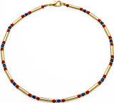 Egyptian necklace with Carnelian and Lapis - Museum Shop Collection - Museum Company Photo