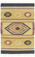 Tahoe - Oatmeal / Multi Rug : Wool Flat Weave Collection - Photo Museum Store Company
