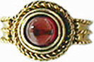 Victorian rope ring with garnet - Museum Shop Collection - Museum Company Photo