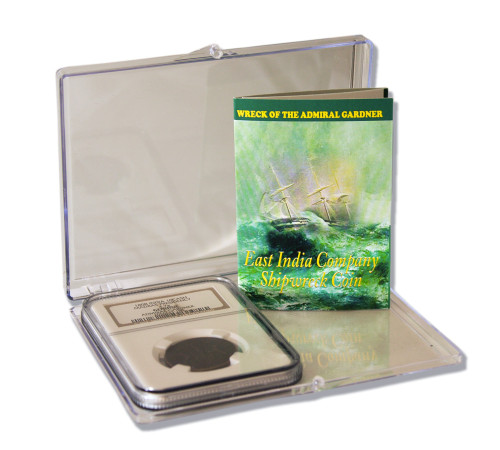 Genuine Admiral Gardner Shipwreck Treasure Coin NGC Certified Slab Clear Box (High grade) : Authentic Artifact - Museum Company Photo