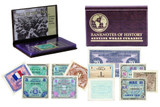 Genuine Allied Military Currency 8 Banknote Collection Folio  : Authentic Artifact - Museum Company Photo