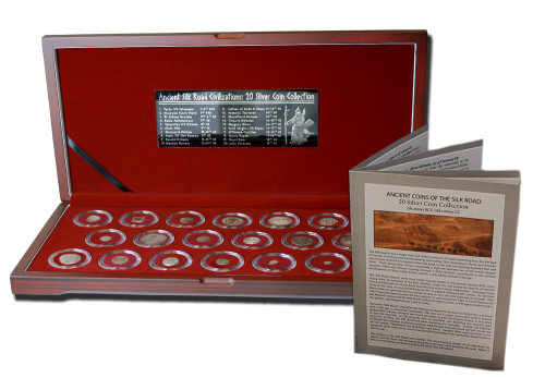 Genuine Ancient Coins of the Silk Road: Box of 20 Silver Coins  : Authentic Artifact - Museum Company Photo