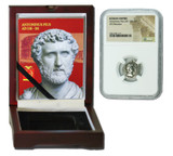 Genuine Antoninus Pius Roman Silver Denarius NGC Certified Slab Box (Medium grade) : Authentic Artifact - Museum Company Photo