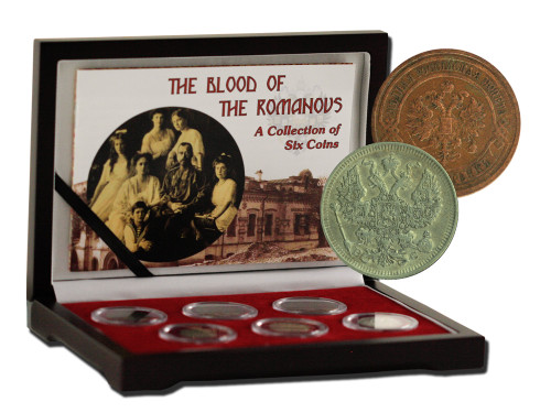 Genuine Blood of the Romanovs: Box of 6 of the Last Russian Coins Issued by the Romanov Dynasty  : Authentic Artifact - Museum Company Photo