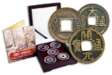 Genuine China 5 Dynasties Box: Twenty Centuries of Cash Coins  : Authentic Artifact - Museum Company Photo