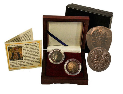 Genuine Christian Cup Coins Box Set: A Medieval Mystery : Authentic Artifact - Museum Company Photo