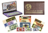 Genuine Cold War 12 Banknote Collection Folio : Authentic Artifact - Museum Company Photo