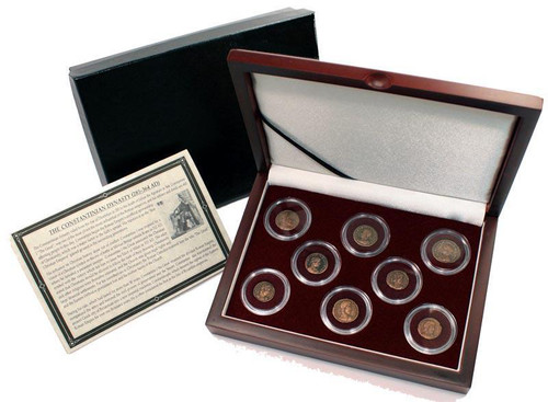 Genuine Constantine Dynasty: Box of 8 Roman Bronze Coins  : Authentic Artifact - Museum Company Photo