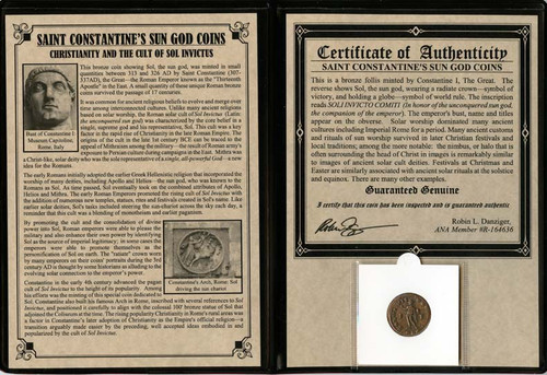 Genuine Constantine the Great: Sun God Album : Authentic Artifact - Museum Company Photo