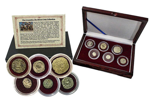 Genuine Crusader: Friends & Foes, Box of 6 Silver Medieval Coins : Authentic Artifact - Museum Company Photo