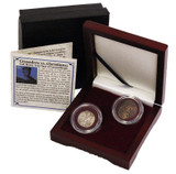 Genuine Crusaders vs. Christians: Box of 2 Coins of the Fourth Crusade  : Authentic Artifact - Museum Company Photo