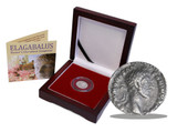 Genuine Elagabalus: Rome's Decadent Emperor, Silver Denarius Box  : Authentic Artifact - Museum Company Photo