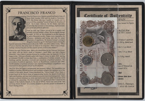 Genuine Francisco Franco: Dictator of Spain Album : Authentic Artifact - Museum Company Photo