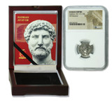 Genuine Hadrian Roman Silver Denarius NGC Certified Slab Box (High grade) : Authentic Artifact - Museum Company Photo