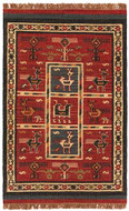 Tribal - Brick / Rust Rug : Wool Flat Weave Collection - Photo Museum Store Company