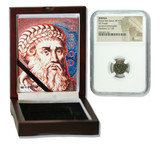 Genuine Herod 1st Judaea Bronze Prutah NGC Certified Slab Box (High grade) : Authentic Artifact - Museum Company Photo