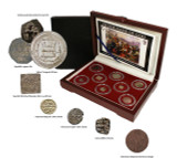 Genuine Holy Wars Box: 8 Coins Highlighting Famous Battles Between Christians and Muslims  : Authentic Artifact - Museum Company Photo