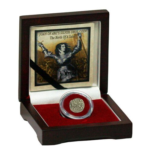 Genuine Joan Of Arc's Silver Obol Coin: The Birth of a Saint : Authentic Artifact - Museum Company Photo