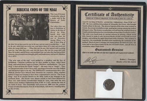 Genuine Journey of the Magi Album: Bronze Tetradrachm : Authentic Artifact - Museum Company Photo