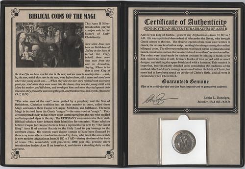 Genuine Journey of the Magi Album: Silver Tetradrachm : Authentic Artifact - Museum Company Photo