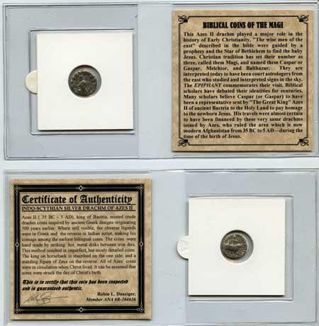 Genuine Journey of the Magi Silver Drachm Mini  : Authentic Artifact - Museum Company Photo