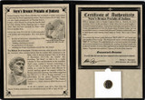 Genuine Judaea Procurator Porcius Festus Album : Authentic Artifact - Museum Company Photo