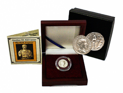 Genuine Kid Caesar: Box of Roman Emperor Gordian III : Authentic Artifact - Museum Company Photo