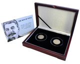 Genuine Man of Steel: Box of 2 Coins Featuring Portrait of Joseph Stalin A Unique Collection of 2 Silver Coins  : Authentic Artifact - Museum Company Photo