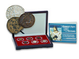 Genuine Monumental Figures in Christianity: Box of 6 Coins : Authentic Artifact - Museum Company Photo