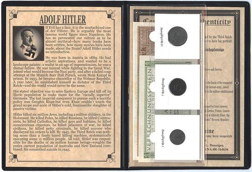 Genuine Nazi Fuhrer: Dictaor Adolf Hitler Album : Authentic Artifact - Museum Company Photo