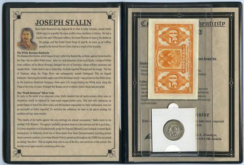 Genuine Russia Dictator: Joseph Stalin Album : Authentic Artifact - Museum Company Photo