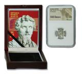 Genuine Septimius Severus Roman Silver Denarius NGC Certified Slab Box (High grade) : Authentic Artifact - Museum Company Photo