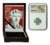 Genuine Septimius Severus Roman Silver Denarius NGC Certified Slab Box (Low grade) : Authentic Artifact - Museum Company Photo
