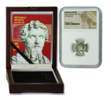 Genuine Septimius Severus Roman Silver Denarius NGC Certified Slab Box (Medium grade) : Authentic Artifact - Museum Company Photo
