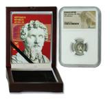 Genuine Septimius Severus Roman Silver Denarius NGC Certified Slab Box (Medium grade) : Authentic Artifact - Museum Company Photo
