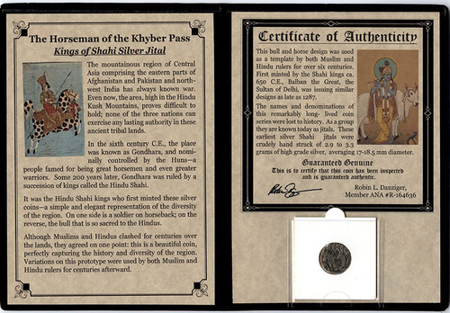 Genuine Shahi Silver Jital Coin Album  : Authentic Artifact - Museum Company Photo