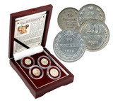 "Genuine Stalin's ""Death Sentence"" Coins: Box of 4 Russian Silver Coins  : Authentic Artifact - Museum Company Photo"