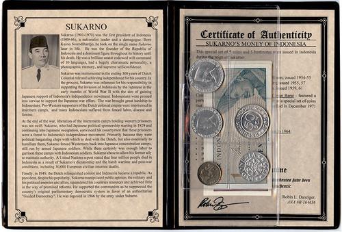 Genuine Sukarno: Dictator Of Indonesia Album : Authentic Artifact - Museum Company Photo