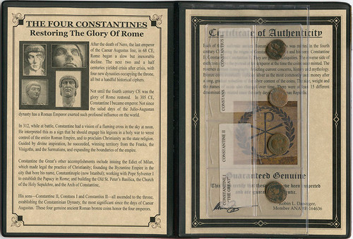 Genuine The Four Constantines Album : Authentic Artifact - Museum Company Photo