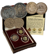 Genuine The Last Royal Houses Of Europe: Box of 3 Silver Coins  : Authentic Artifact - Museum Company Photo