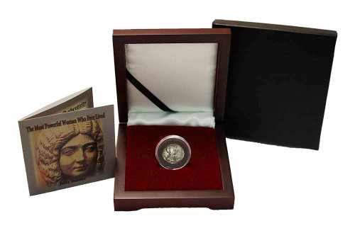 Genuine The Most Powerful Woman Who Ever Lived: Box of Silver Roman Denarius of Julia Domna : Authentic Artifact - Museum Company Photo
