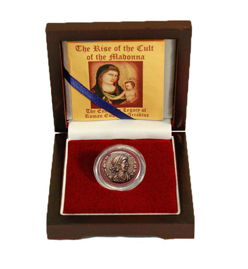 Genuine The Rise of the Cult of the Madonna: A Roman Bronze Coin Box : Authentic Artifact - Museum Company Photo