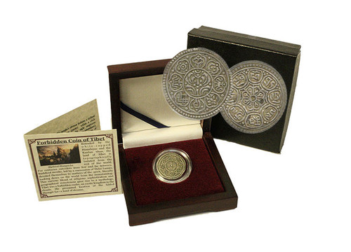 Genuine Tibet : The Silver Ga-Den Tangka Box  : Authentic Artifact - Museum Company Photo